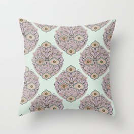 Victorian floral Throw Pillow