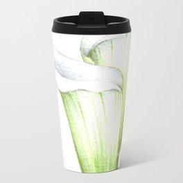 White Calla Lillies Travel Mug