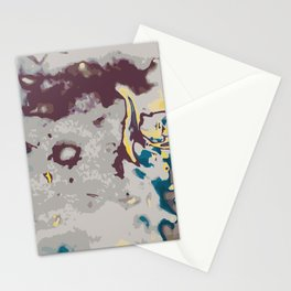 green yellow brown and grey abstract background Stationery Cards