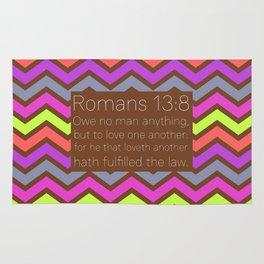 Romans 13v8 Rug
