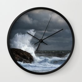 Explosive Seas Wall Clock
