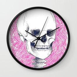 Skeleton in Pink Wall Clock
