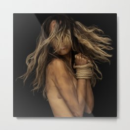 Tied up Blonde Metal Print