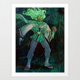 God - The Star Player Art Print