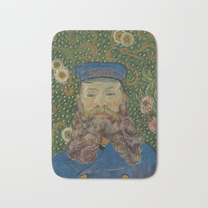 Portrait of Joseph Roulin by Vincent van Gogh Bath Mat