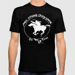 neil young crazy horse on tour black nitrogen T-shirt