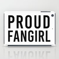 fangirl iPad Cases featuring FANGIRL by The Fandom Designs