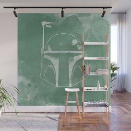 Boba Fett Helmet Wall Mural