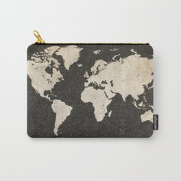 World Map - Ink lines Carry-All Pouch