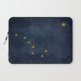 Alaskan State Flag in grungy textures Laptop Sleeve