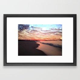 Ice Beach Framed Art Print