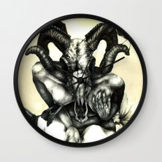 The Ram and the Crows Wall Clock