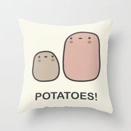 Potatoes! Throw Pillow