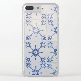 Portuguese tile 7 Clear iPhone Case