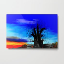 Lonely baobab ... Metal Print