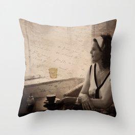 cafe au reve Throw Pillow