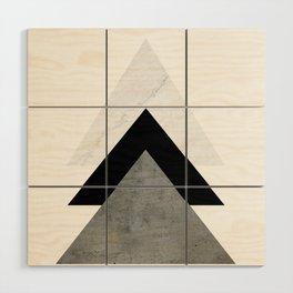 Arrows Monochrome Collage Wood Wall Art