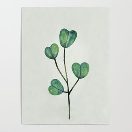 Watercolor Leaf 6 Poster