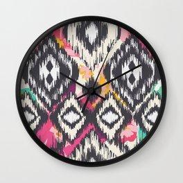 Ikat Wall Clock