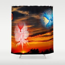 Full moon - Fascination Blood moon Shower Curtain