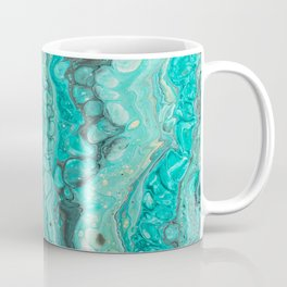 Liquid Turqouise Marble Coffee Mug