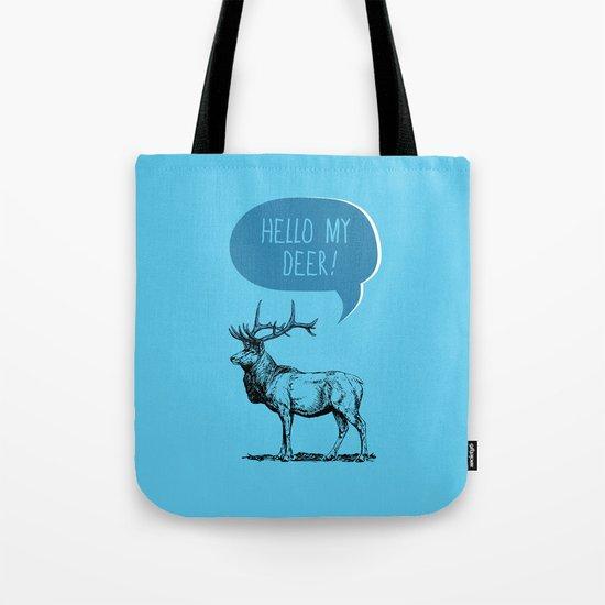 Deer Pun Tote Bag