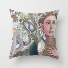 Horns and Armor Throw Pillow