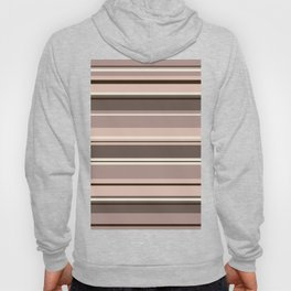 Mixed Striped Design Browns Taupe Creams Hoody