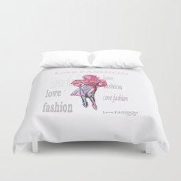 Fashion Illustration Duvet Cover
