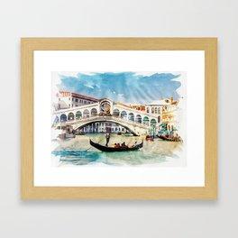 VENICE, Italy - Beautiful Earth / Watercolor art Framed Art Print