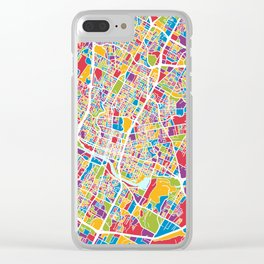 Austin Texas City Map Clear iPhone Case