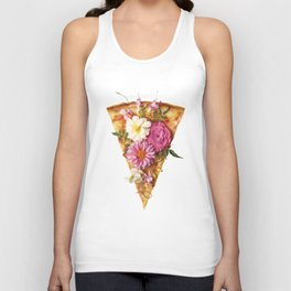 FLORAL PIZZA Unisex Tank Top