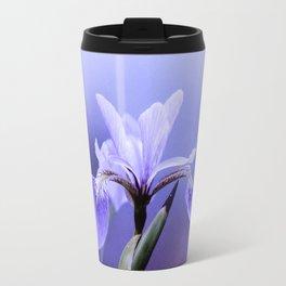 The Blue Flag Iris, full blue bloom Travel Mug