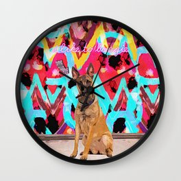 Georg Likes to Boogie Wall Clock