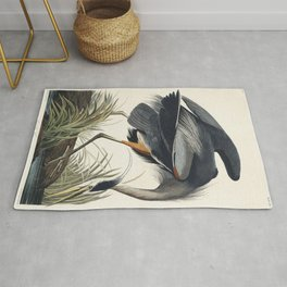 Great blue Heron from Birds of America (1827) by John James Audubon etched by William Home Lizars Rug