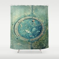 portal Shower Curtains featuring Portal by Labartwurx