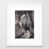 rowing Framed Art Prints featuring Rowing A Boat by Jill Whit Art