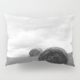 Mountain Farm, Hay Rolls, Impending Storm by Steve Ricci Pillow Sham