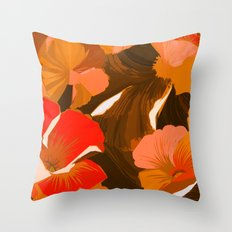 Donna's Autumn Woodcut Throw Pillow
