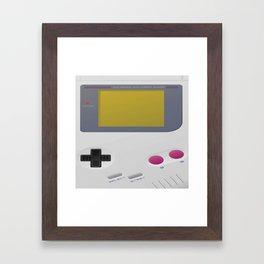 Minimal Game Boy Framed Art Print