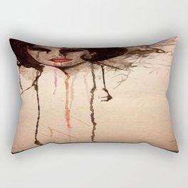 creepy girl portrait Rectangular Pillow