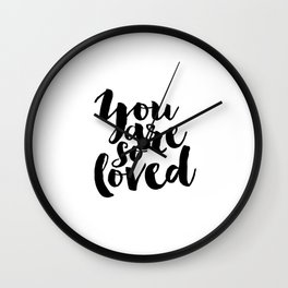 Nursery Decor You Are So Loved Nursery Printable Typographic Wall Art Typography Phrase Mini Learner Wall Clock