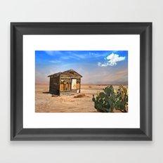 Shack in Desert Ghost Town Framed Art Print