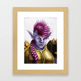 Raknida the Orcish Warrior Framed Art Print