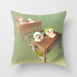 Study Hard Throw Pillow