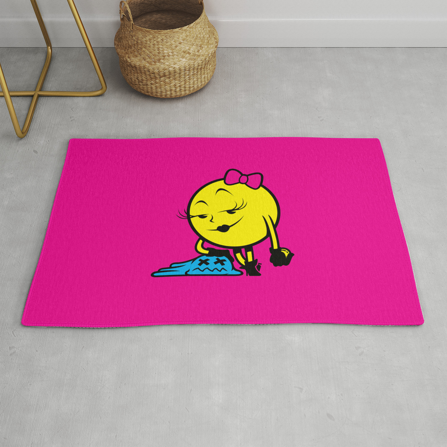 Ms Pac Man Rug By Lamanette Society6