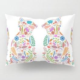 Fancy And Fine Flowered Cat Garden Design Pillow Sham