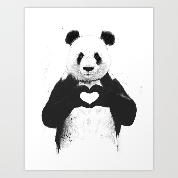 Sunday's Society6 | Valentine's day love panda art print