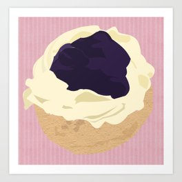 Blueberry Cream Puff Art Print