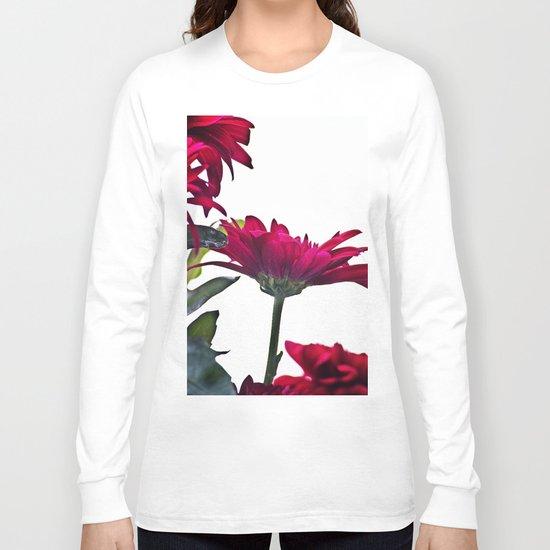 Red Chrysanthemum Flowers Long Sleeve T-shirt